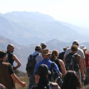 Eco-tourists hit the hiking trails of the Dana Biosphere Reserve.