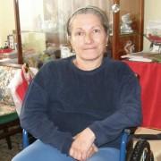 Valeria Gutu in her apartment
