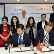MoU signing event.