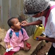 Vaccinated children are fully immunized against the polio virus