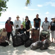 U.S. Ambassador  joined Maldivian State Ministers, USAID Mission Director and REGENERATE Program Manager in cleaning up the beac