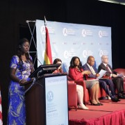 YALI West Africa Regional Advisory Board Chair, Victorine Kambe Sarr addressing the conference
