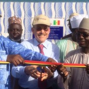 L-R : Kaolack region's deputy governor Abdou Wahab Talla, Ambassador James Zumwalt and KASEC director El Hadj Ibrahima Niasse