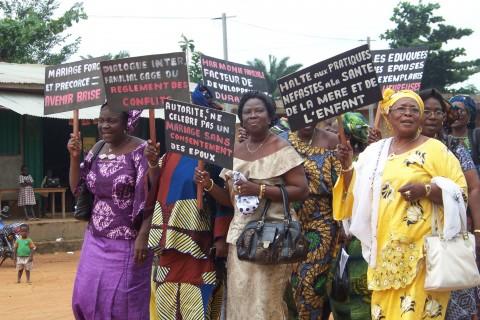 Women march to end gender-based violence in Ouémé, Benin