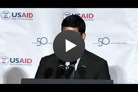 USAID Administrator Dr. Rajiv Shah at the USAID 50th Anniversary Event