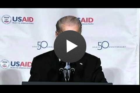 Vice President Joe Biden at the USAID 50th Anniversary Event