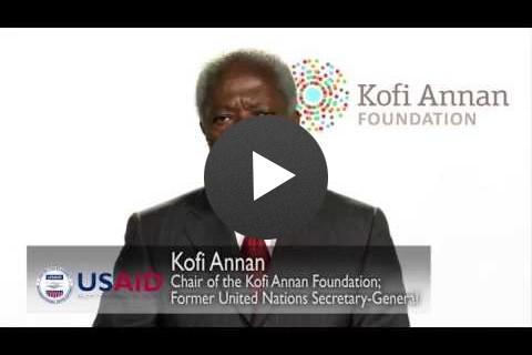 Kofi Annan: Frontiers in Development Message