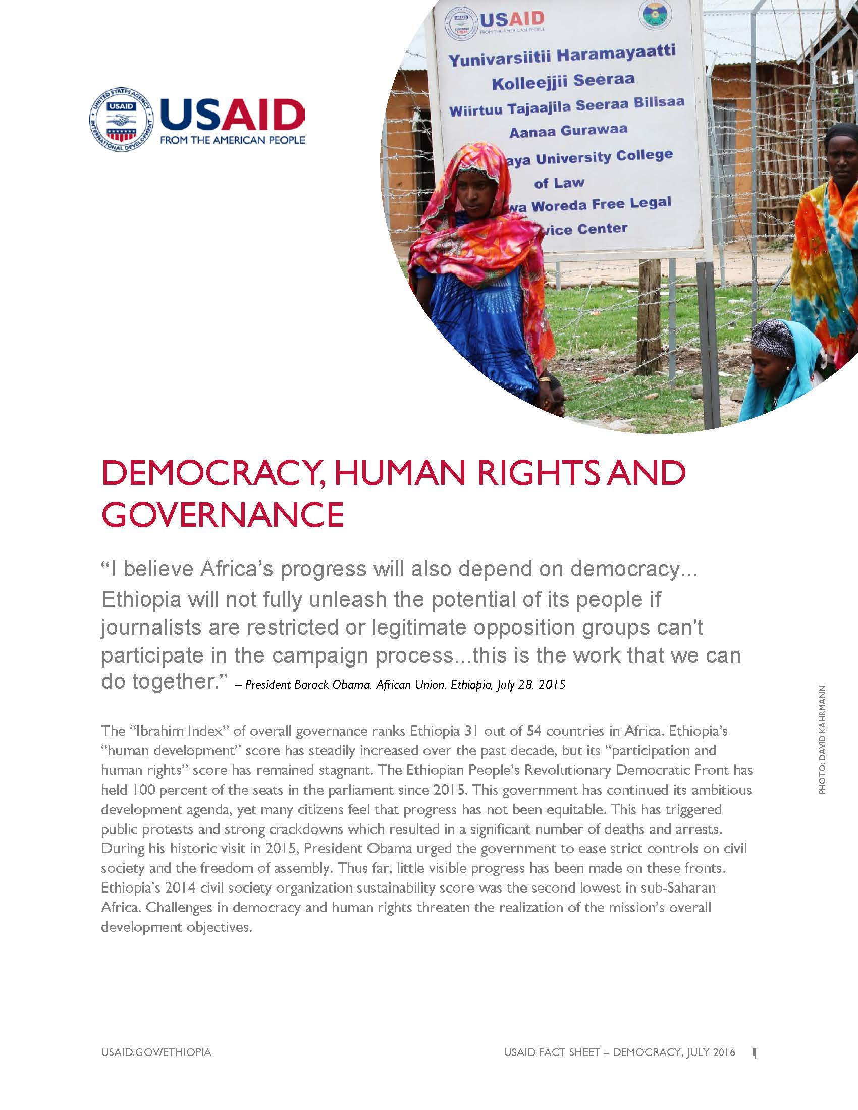 Ethiopia Democracy, Human Rights, and Governance