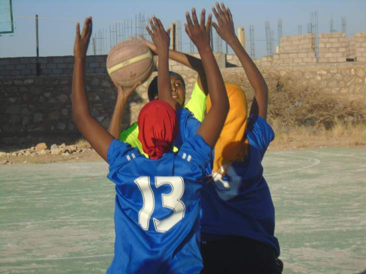 Forty girls from Garowe, the capital of Puntland, Somalia, now participate on four basketball teams. Said Hassan