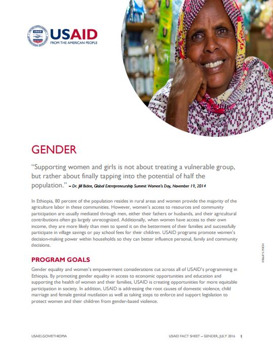 Ethiopia Gender Fact Sheet