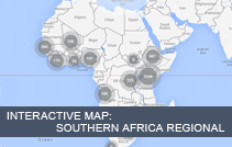 Interactive Map for Southern Africa Regional